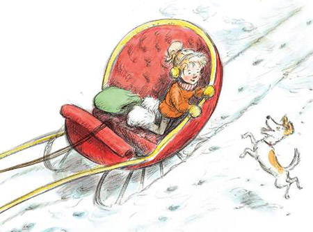 Artwork from One-Dog Sleigh by Mary Casanova and Ard Hoyt
